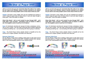 Year Of Prayer 2007 Flyer V.1